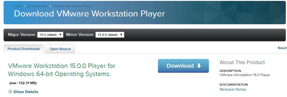 VMWare Workstation 15 Player - Markus Pyhäranta